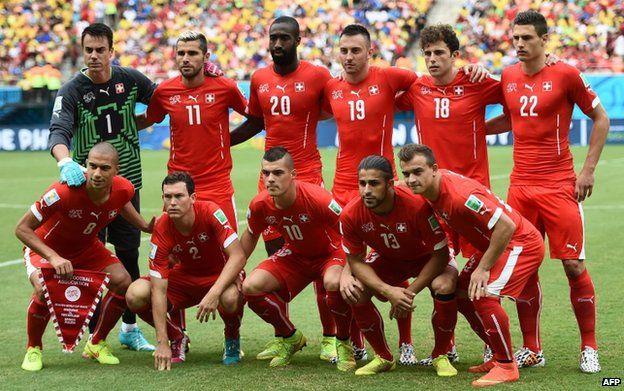 Swiss team against Honduras (25 June)