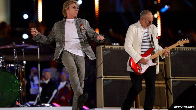 Roger Daltrey (left), and Pete Townshend of The Who