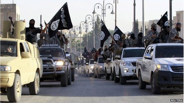 Isis fighters in Syria celebrate declaration of caliphate
