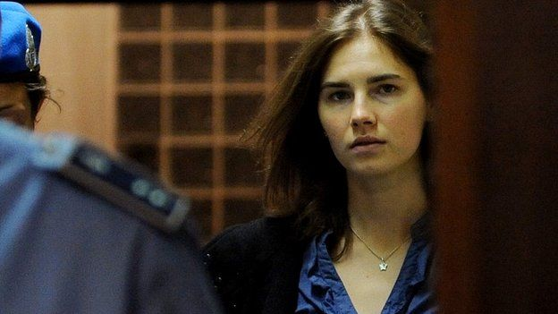 Amanda Knox arriving at an Italian court during her appeal trial - 30 September 2011