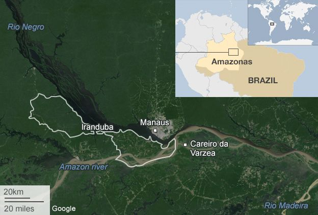Record floods in Brazil bring chaos to Amazon towns - BBC News