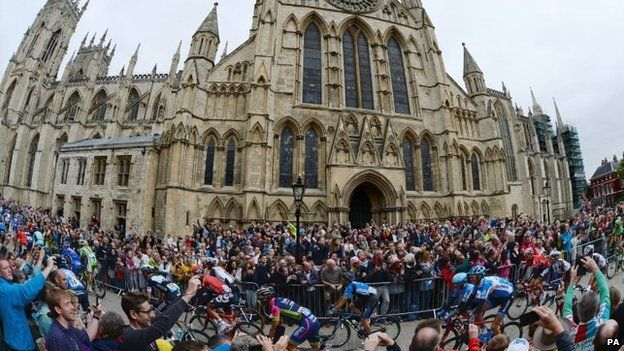 Tour de France at York Minster