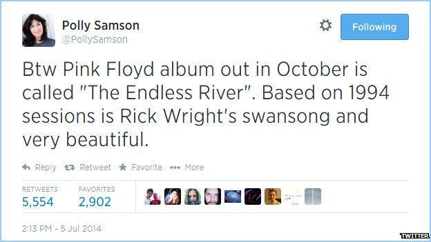 Polly Sampson's tweet