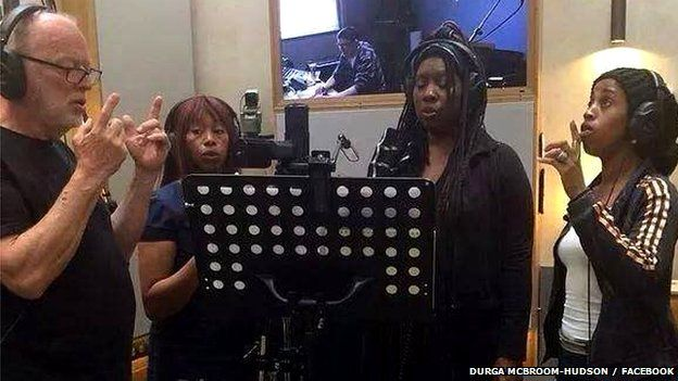 Recording session for new Pink Floyd album
