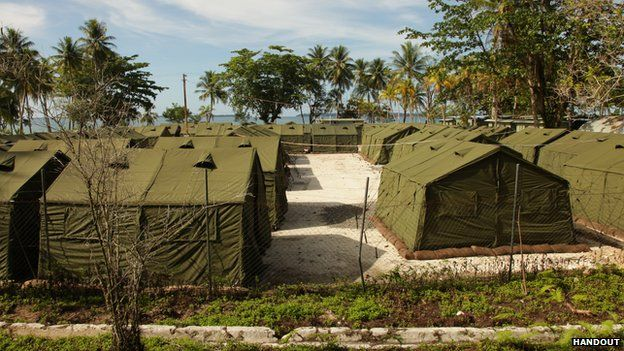 A 2012 picture of Manus Island detention camp for asylum seekers.