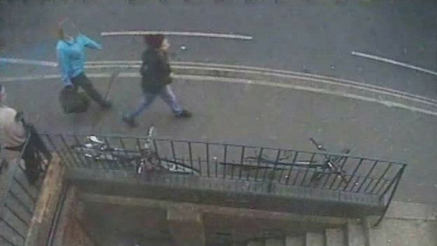 CCTV of Jayden leaving her hostel in Oxford to meet Ben Blakeley on the day she was killed