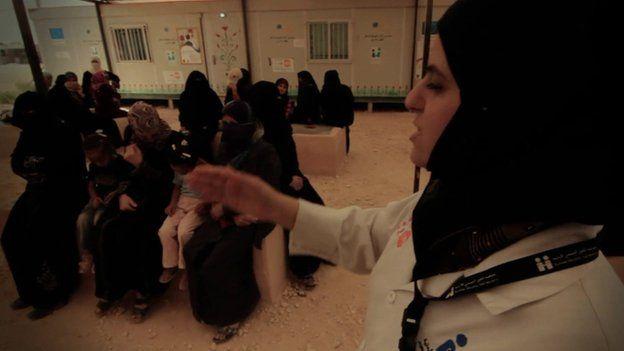 Class in Zaatari refugee camp