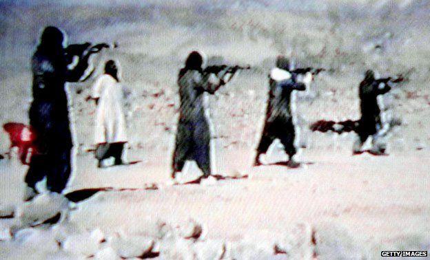 Video grab of an al-Qaeda training camp in Afghanistan, 2001