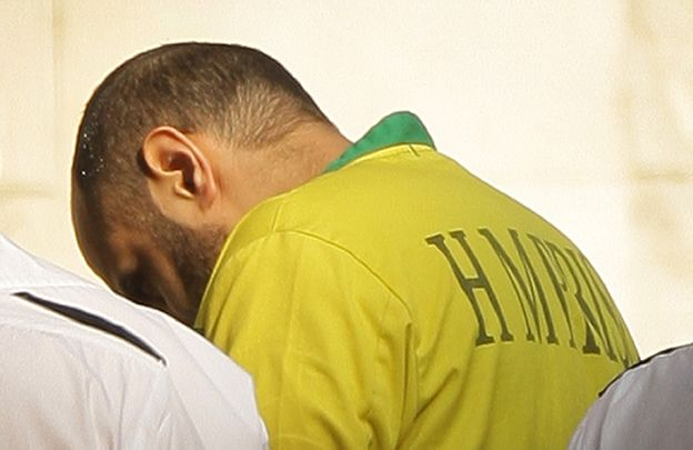 Babar Ahmad is led into court, 2009