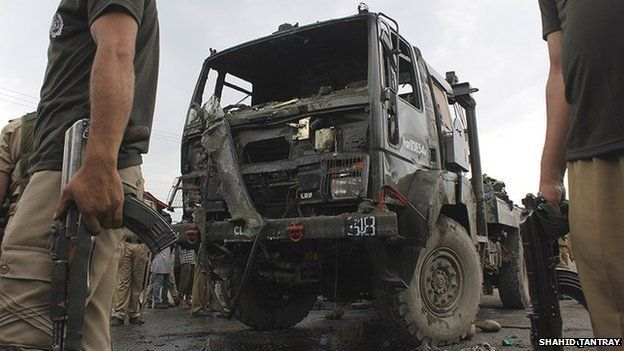 The army vehicle involved in the 16 July 2014 accident
