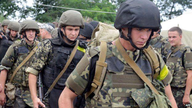 Ukrainian troops deploying in east to fight rebels, 15 July 14