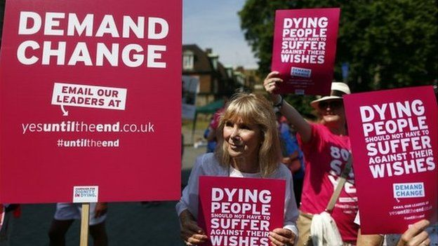 Supporters of assisted dying