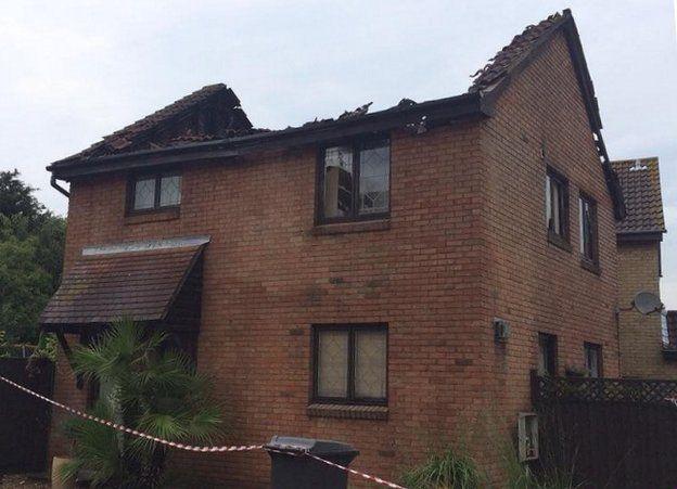 House in Chelmsford struck by lightning