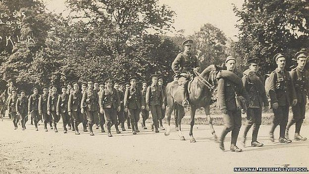 Liverpool Giants: Lord Derby and the Pals battalions - BBC News