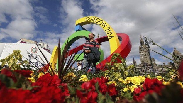 Glasgow 2014 logo in George Square