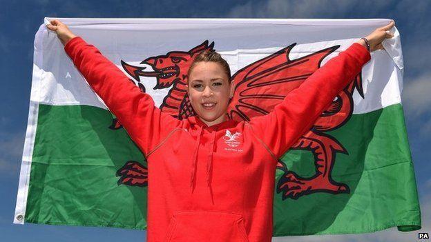 Welsh gymnast Francesca Jones