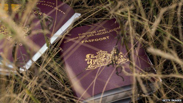 Dutch passports found at the MH17 crash scene (22 July 2014)