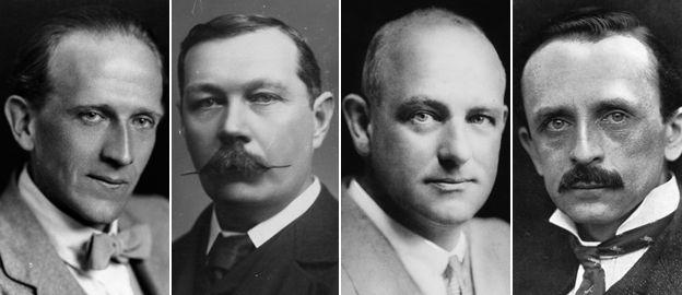 AA Milne, Arthur Conan Doyle, PG Wodehouse, JM Barrie