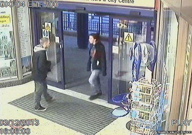 Mr Blakeley and Jayden at Oxford train station on 3 December