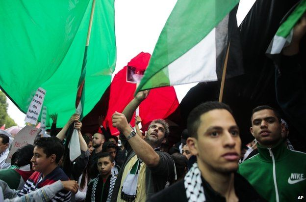 Pro-Palestinian protesters in Berlin, 25 July