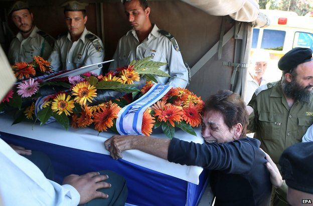 The funeral of an Israeli soldier in Rehovot, Israel, 25 Israel