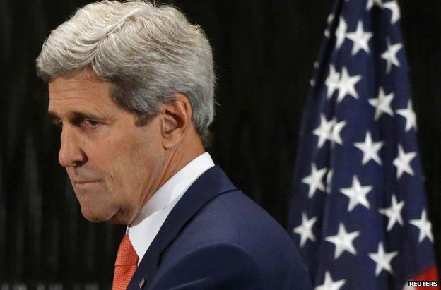 US Secretary of State John Kerry in Cairo, 25 July