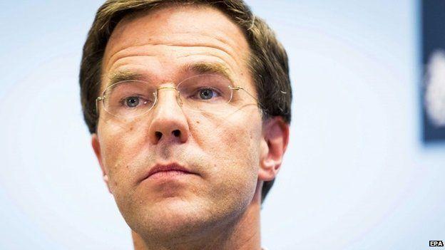 Dutch PM Mark Rutte, 27 July 2014