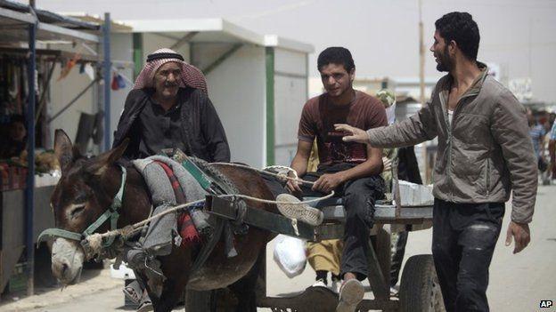 Syria refugee in Jordan's Zaatari camp