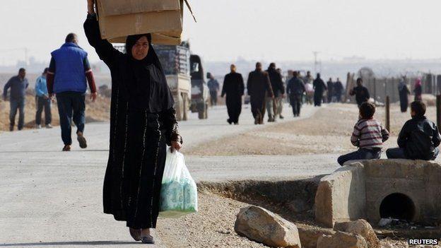 Syrian refugee in Jordan's Zaatari camp