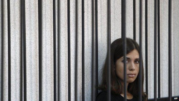 Pussy Riot member Nadezhda Tolokonnikova