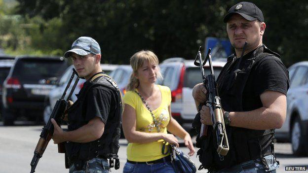 Rebel gunmen in Donetsk region
