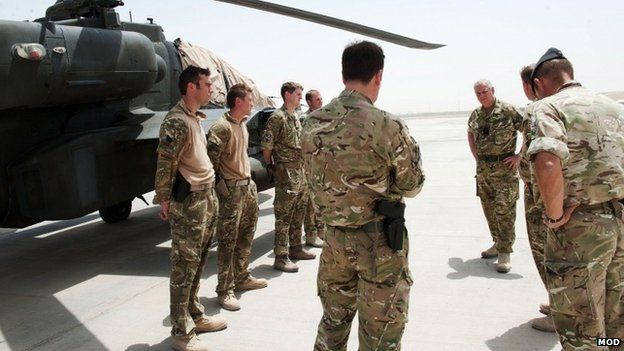 The Duke of York during visit to Afghanistan