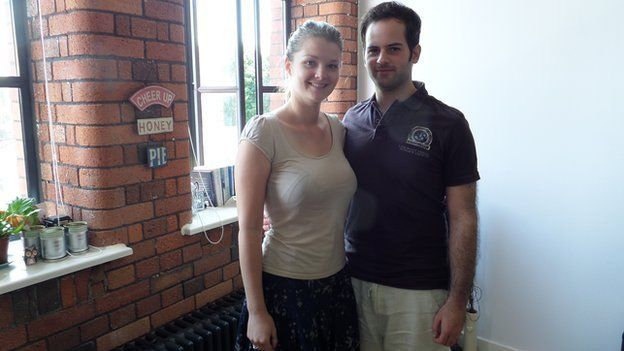 Kirsty Kelly and her partner Richard