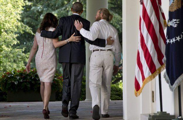 Bowe Bergdahl's parents with Barack Obama
