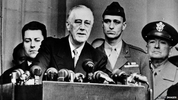 President Franklin D Roosevelt at one of his inaugurations