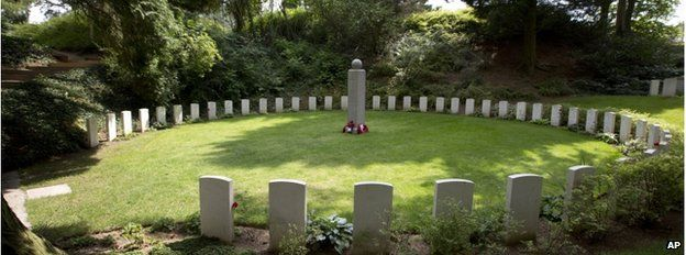 The military cemetery at St Symphorien