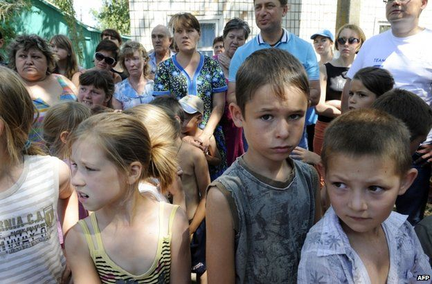 Refugees in Yalta, Crimea, 2 August