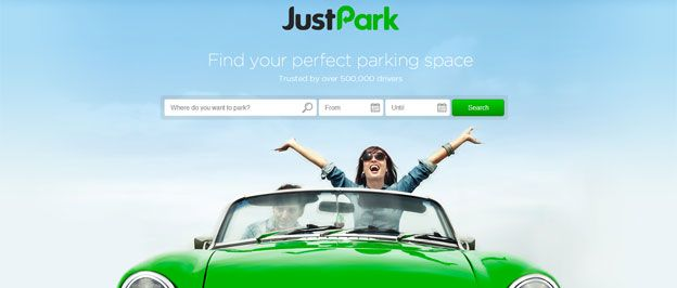 JustPark - screenshot from website