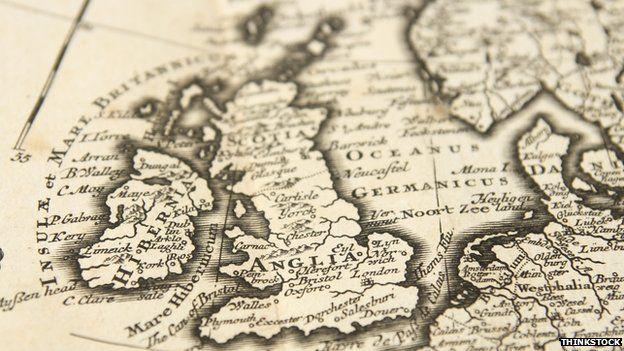 Map of Hibernia and Scotia