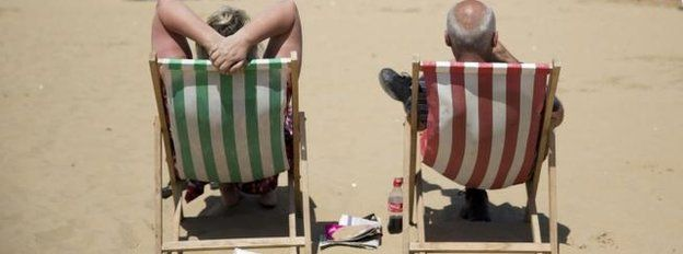 People on deckchairs
