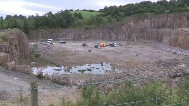 The fracking firm, Tamboran, faced opposition to its plans to drill a gas exploration borehole at a quarry in Belcoo