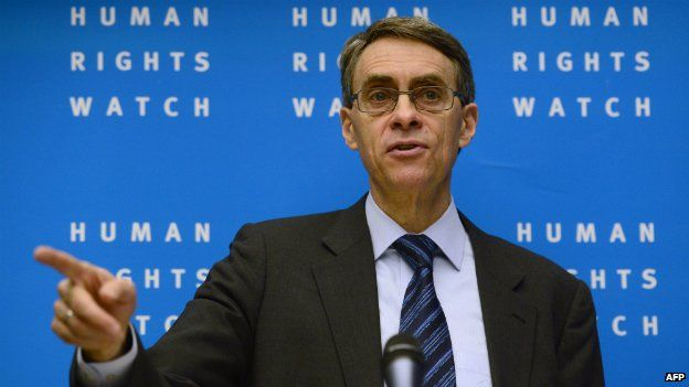 Kenneth Roth, executive director of Human Rights Watch, at a press conference in Berlin - 21 January 2014