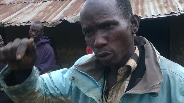 Peter Loituktuk, one of the men in Moi's Bridge, who is in hiding fearing forced circumcision - Kenya, August 2014
