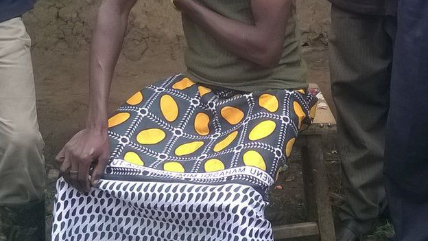 One of the men who was forcibly circumcised in Moi's bridge, Kenya
