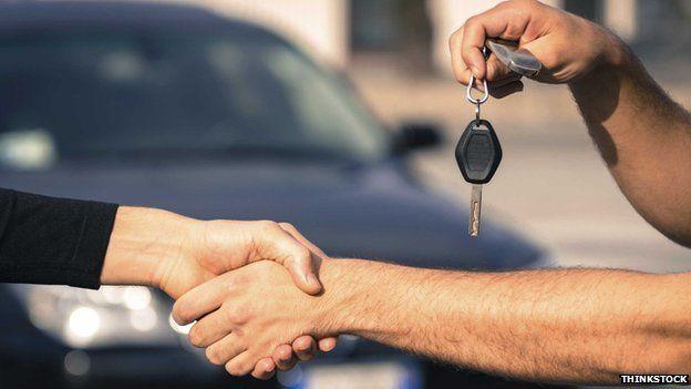 Car keys handover