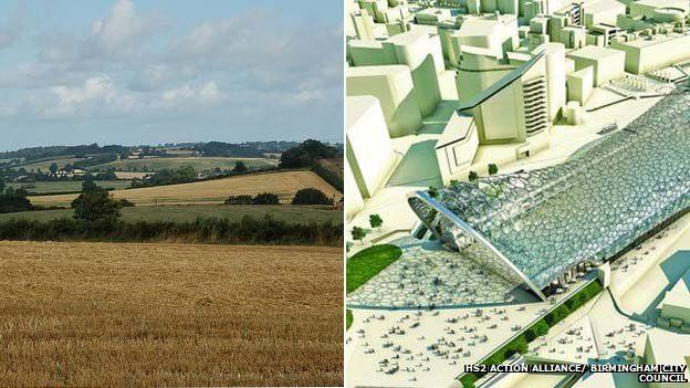 A Northamptonshire cornfield and Birmingham's HS2 station plans