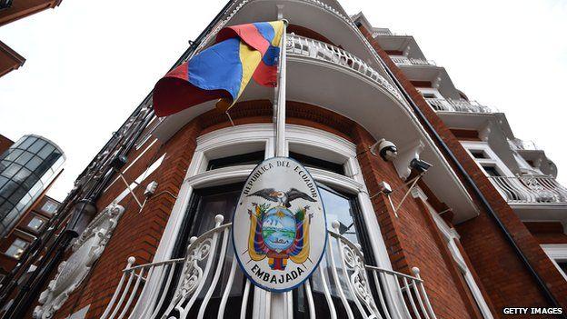 The embassy of Ecuador