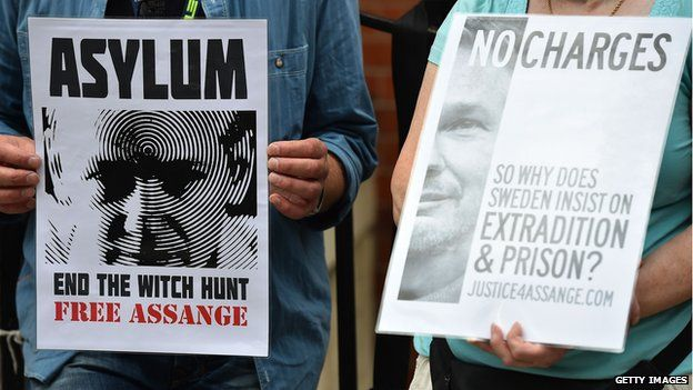 Supporters of Julian Assange