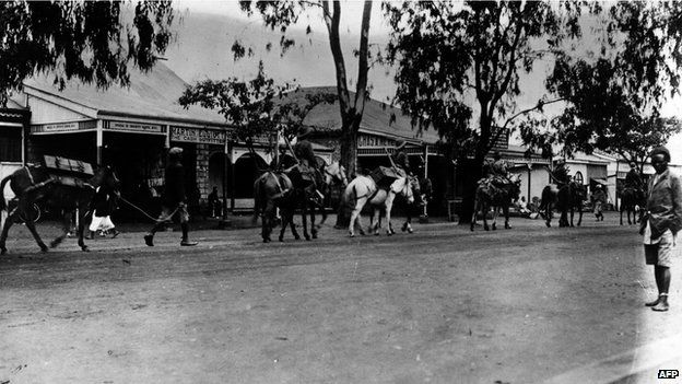 East African Rifles in Nairobi in British East Africa (1 January 1916)