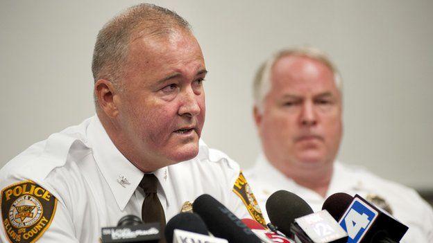 Jon Belmar at a police press conference